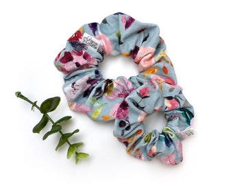 Scrunchies elastic stretch fabric Clementine pattern chouchou   Scrunchies for girls in adult   Choose the perfect size for you