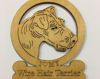 Wire Hair Terrier Dog Ornament
