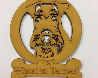 Wheaten Terrier Dog Ornament