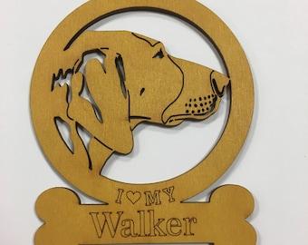 Walker Dog Ornament