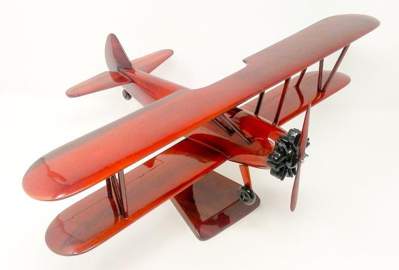 Stearman Airplane Wooden Model - Made of Mahogany Wood