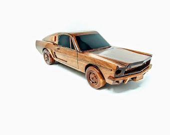 Mustang GT Fastback Wooden Model- Made Of Mahogany Wood