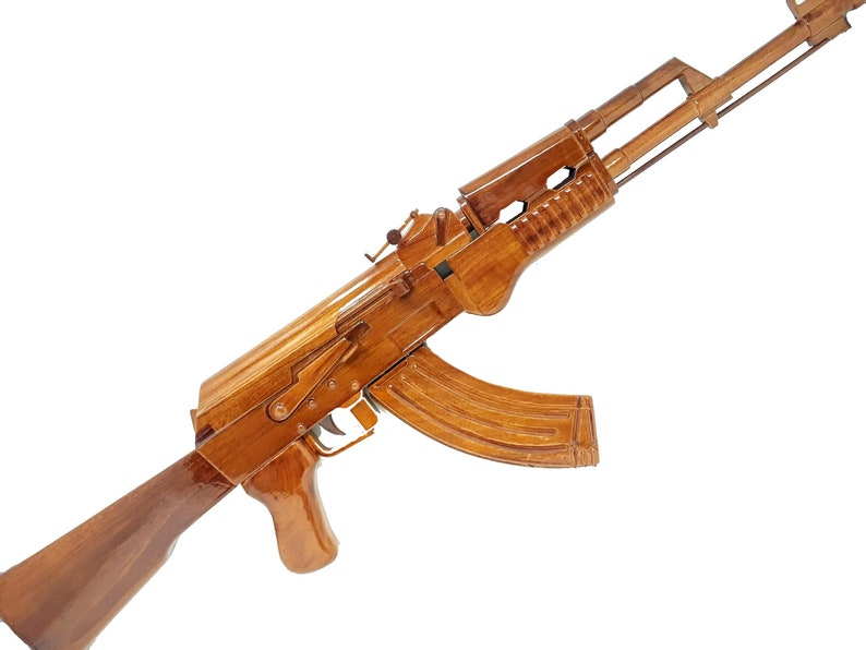 1911 Black Hand Gun Wooden Model Made of Mahogany Wood