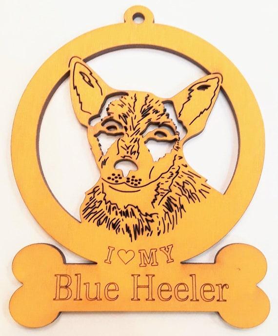 I love my dog blue and orange