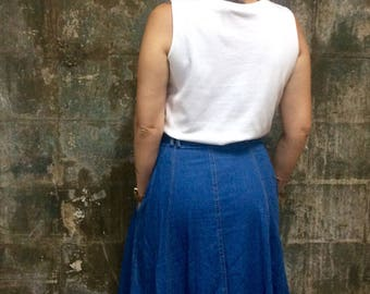 90s Vintage Denim Skirt