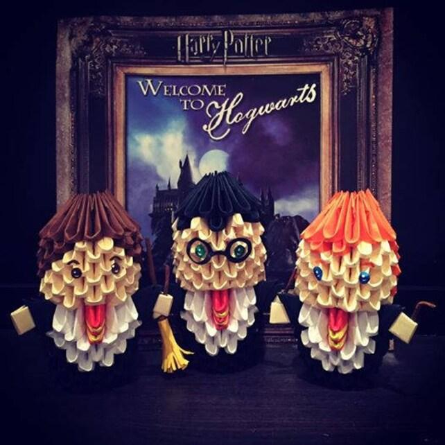 Harry Potter Hermione Granger Ron Weasley 3d Origami Etsy