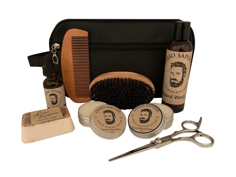 Men's Grooming Kit Contains Beard Oil Beard Wash Beard image 0
