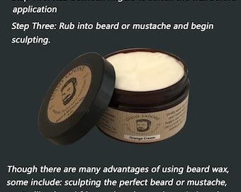 4 oz Beard & Mustache Wax (scent options)