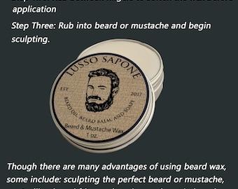 Beard & Mustache Wax 1 oz (scent options)