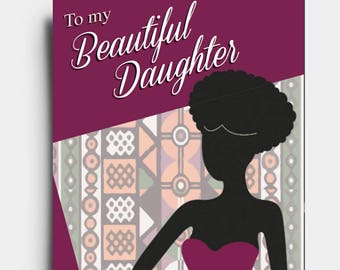 Beautiful Daughter - Greetings Card