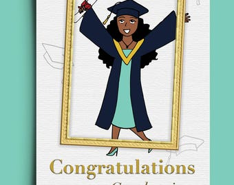 Graduation Congratulations - Greetings Card - Young Lady