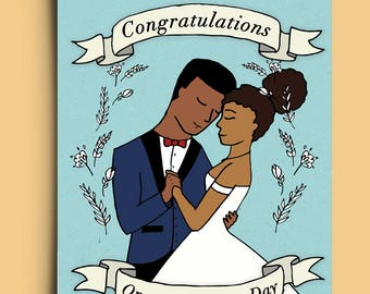 Congratulations on your Wedding - Greetings Card
