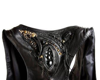 Leather Vest - Burning Man Clothing Men - Mad Max Vest - Leather vest - Steampunk outfit - Burning Man Costume