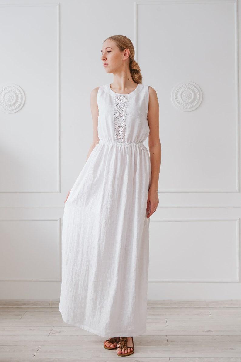 Image 0: Linen Line Wedding Dress At Websimilar.org