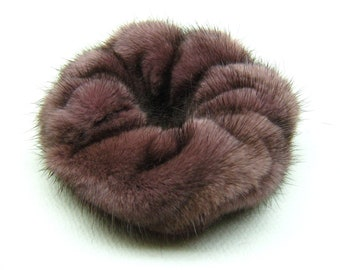 Durable Elastic Inside Natural Pearl Mink Fur Scrunchie for Hair Accessories for Hair Different Sizes Scrunchies Available