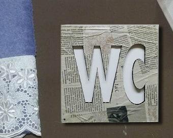 Cartello Da Appendere In Bagno : Scritta toilette etsy