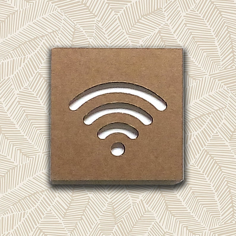 1b1cb7f4e8b3c WI-FI sign in CARDBOARD. Social media decor for shop, restaurant or  kitchen. Geeky nerd or internet lover gifts. Inlay and collage
