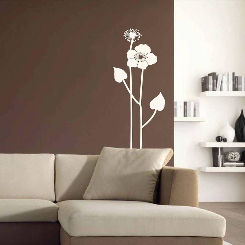 flowers poppy wall sticker boho poppies wall decal vinyl | etsy