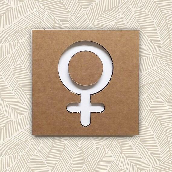 Simbolo femmina icona femmina sesso femminile icona bagno etsy - Sesso lesbo in bagno ...