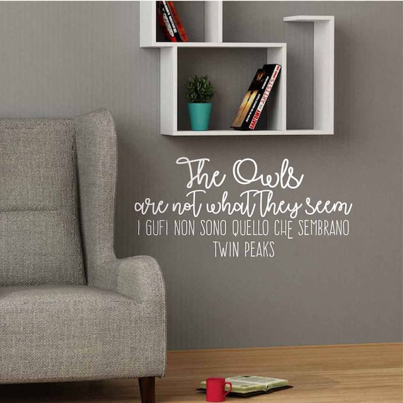 twin peaks quote wall decal phrase tv series wall sticker | etsy