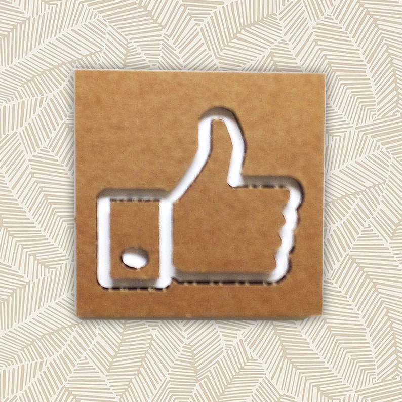 12069715ec0a1 FACEBOOK LIKE sign of CARDBOARD. Social media decor or sign for shop and  door. Geeky nerd or internet lover gifts. Inlay and collage
