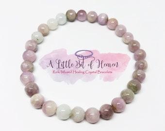 Kunzite Crystal Stretch Bracelet | 6mm Beads | Joint Pain | Soul Transformation