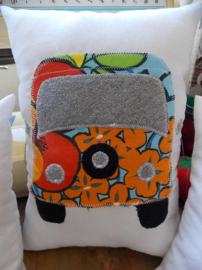 Hippie Bus Patchwork Pillows image 0
