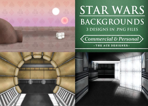 Star Wars Background Bundle 3x Clipart Cartoon Sublimation Etsy