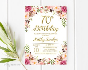 floral invitations etsy