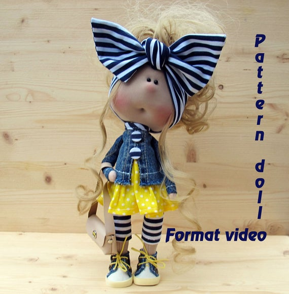 Video tutorials & Master classes|Textile doll tutorial, PDF Digital ...