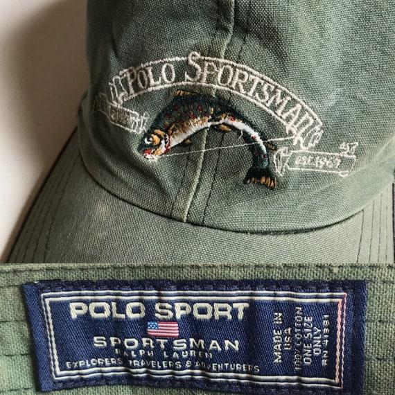 Vintage Polo Sportsman Cap 1990s USA Rare