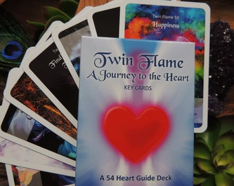 Twin flame card | Etsy