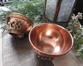 Offering Bowl Om Copper and Brass Offering Bowl Offering Bowl Incense Holder Smudge Bowl Alter Censer Burner Pastille Burner