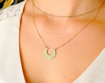 Crescent Moon Necklace, Necklaces For Women, Ethnic Moon Necklace, Moon Jewelry, Dainty Necklace, Moon Charm Necklace, Silver Moon Necklace