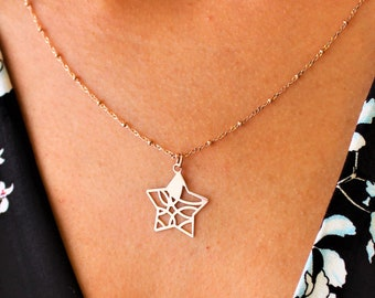 Star Necklace, Necklaces For Women, Star Jewelry, Dainty Necklace, Rose Gold Necklace, Minimalist Necklace, Rose Gold Star Necklace