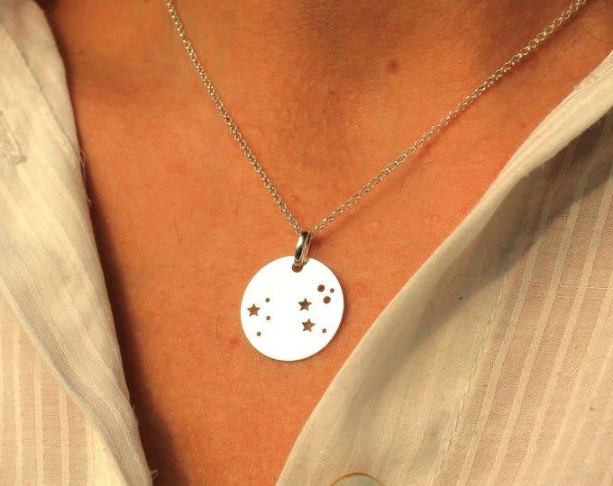 Leo Necklace, Constellation Necklace, Zodiac Necklace, Celestial Necklace, Necklace For Woman, Astrology Necklace, Leo Jewelry, Gift