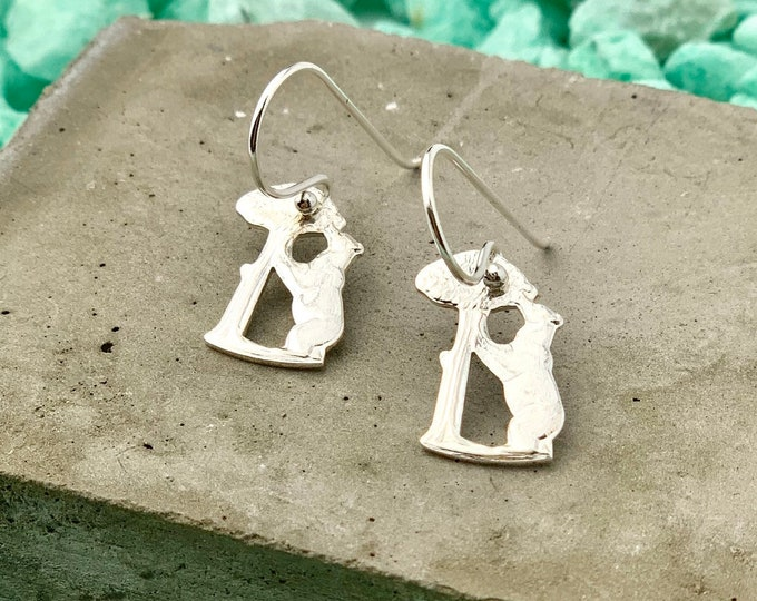 Bear Earrings, Dangle Earrings, Dainty Earrings, Drop Earrings, Silver Earrings, Charm Earrings, Boho Earrings, Earrings For Women