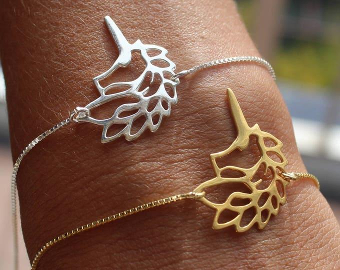 Silver Unicorn Bracelet For Women - Dainty Gold Unicorn Jewelry - Minimalist Bracelet To Gift For Her