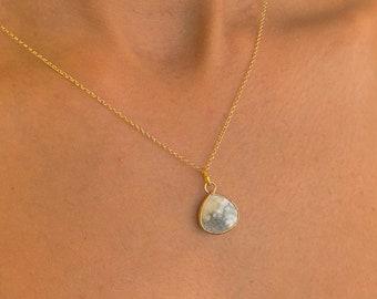 Howlite Gold Necklace, Howlite Necklace, Dainty Necklace, Necklaces For Women, Howlite Jewelry, Gold Jewelry, Gemstone Necklace, Minimalist