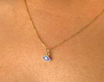Gold Evil Eye Necklace, Evil Eye Jewelry, Necklaces For Women, Minimalist Necklace, Tiny Gold Necklace, Dainty Gold Necklace