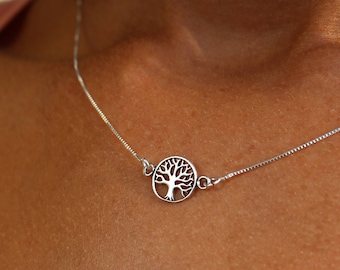 Sterling Silver Tree Of Life Charm Necklace For Women - Dainty Gold Tree Of Life Jewelry To Gift For Her