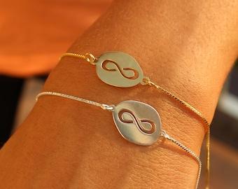 Friendship Bracelet, Infinity Bracelet, Minimalist Bracelet, Layered Bracelet, Ring Bracelet, Gold Bracelet, Gift For Her, Silver Bracelet