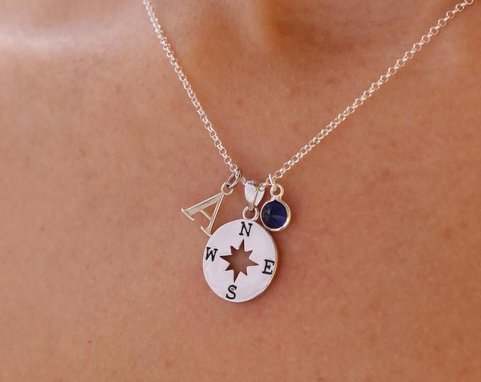 Collar Rosa De Los Vientos - Compass Necklace