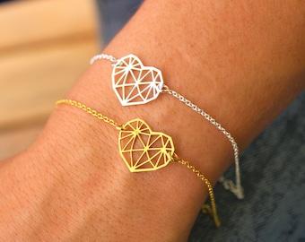 Pulsera Corazon De Origami - Heart Bracelet