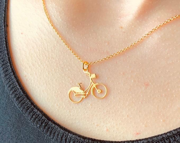 Gold Motorcycle Necklace For Women - Dainty Gold Motorcycle Necklace To Gift For Bikers - Minimalist Motorbike Jewelry - Charm Necklace