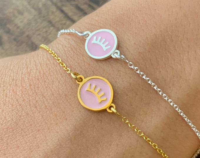 Gold Bracelet For Women - Dainty Silver Tabs Charm Bracelet - Minimalist Tabs Jewelry To Gift For Her
