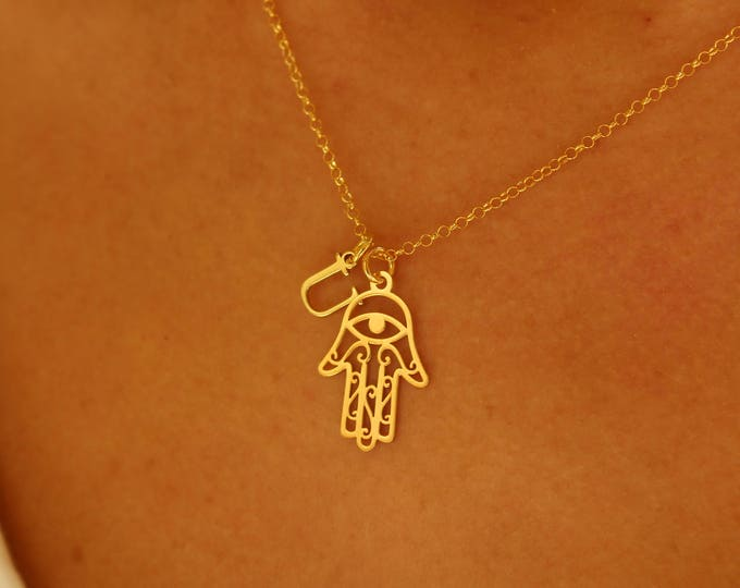 Collar Mano De Fatima - Hamsa Necklace