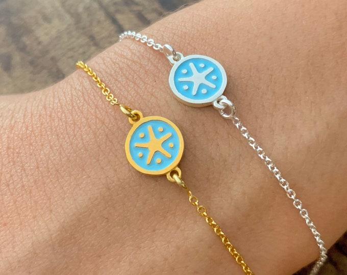 Gold Bracelet For Women - Dainty Silver Starfish Charm Bracelet - Minimalist Starfish Jewelry To Gift For Her