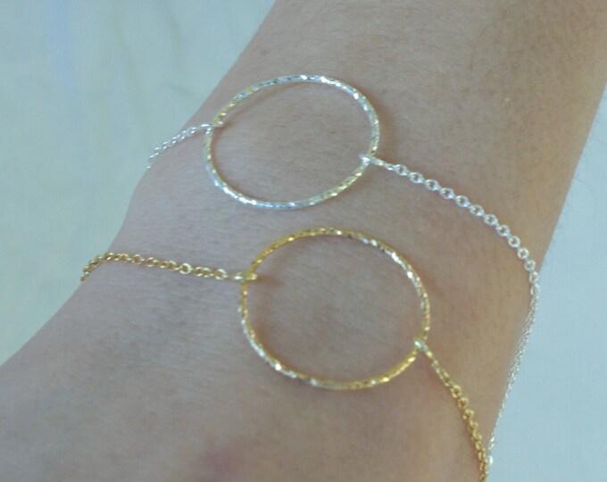 Ring Bracelet, Dainty Bracelet, Karma Bracelet, Bracelet For Women, Friendship Bracelet, Silver Bracelet, Circle Bracelet, Gift For Her