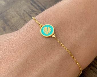 Monstera Leaf Bracelet, Bracelets For Women, Leaf Bracelet, Monstera Leaf Jewelry, Monstera Bracelet, Silver Bracelet, Monstera Jewelry